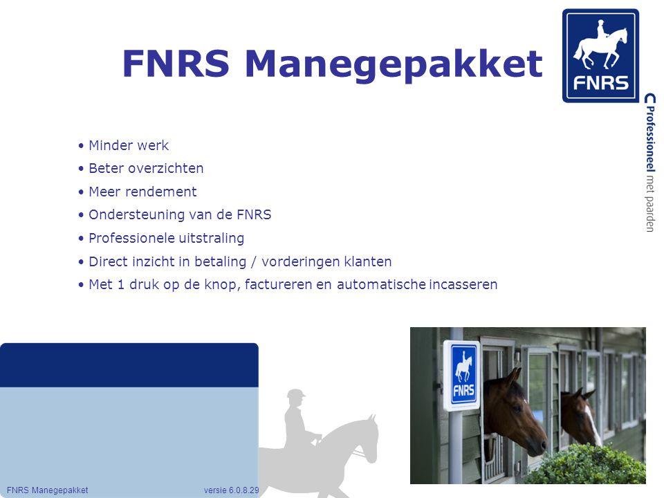 FNRS Manegepakket Minder werk Beter overzichten Meer rendement