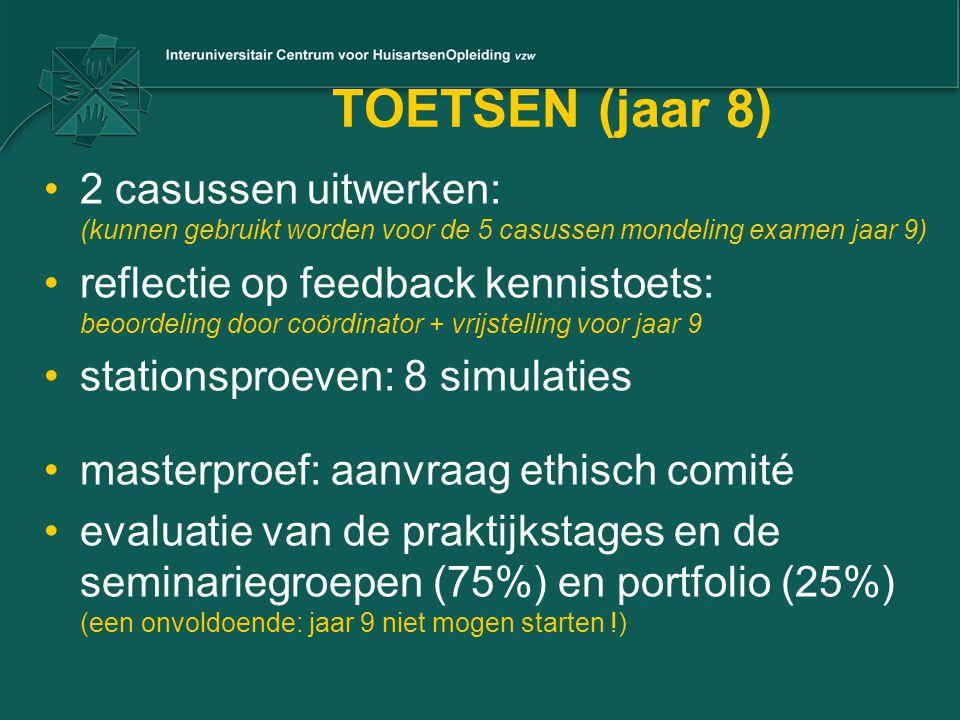 TOETSEN (jaar 8) 2 casussen uitwerken: (kunnen gebruikt worden voor de 5 casussen mondeling examen jaar 9)