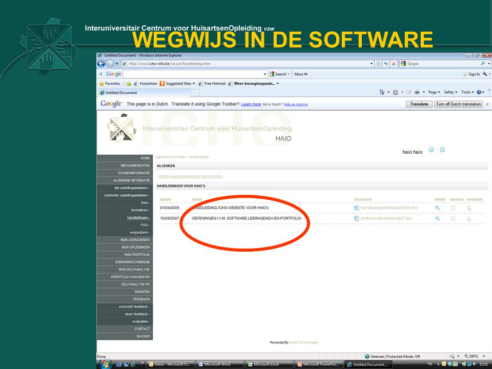 WEGWIJS IN DE SOFTWARE
