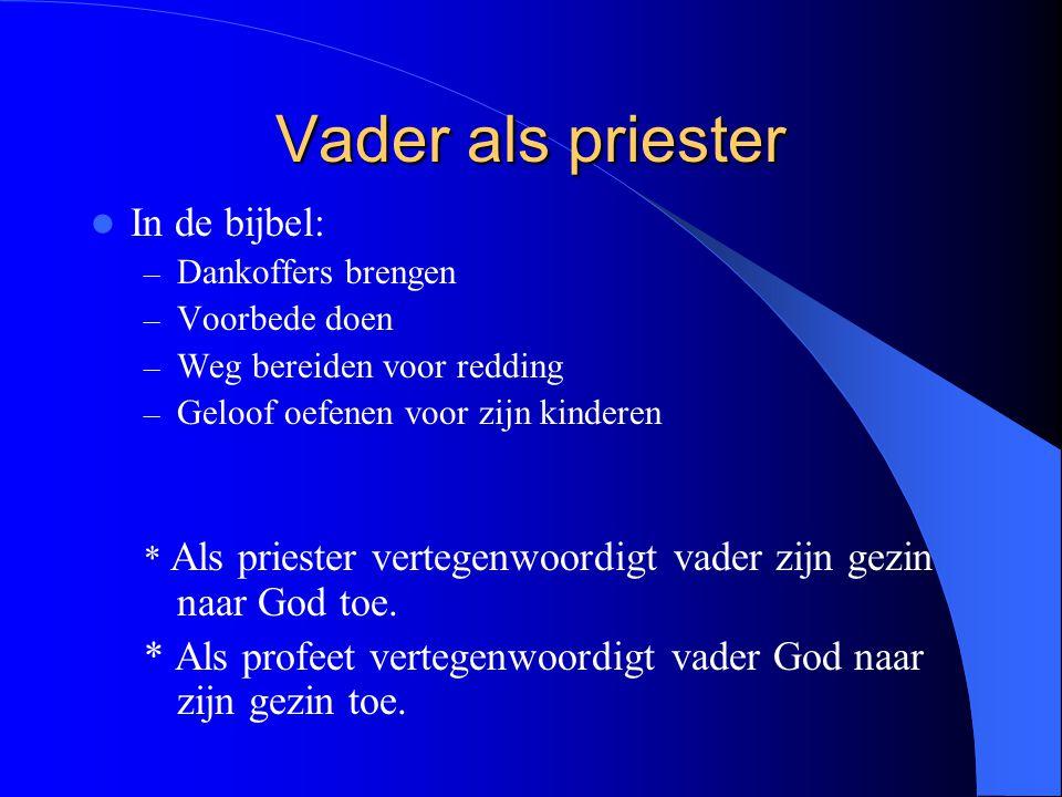 Vader als priester In de bijbel: