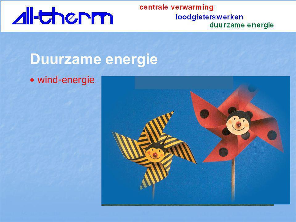 Duurzame energie wind-energie