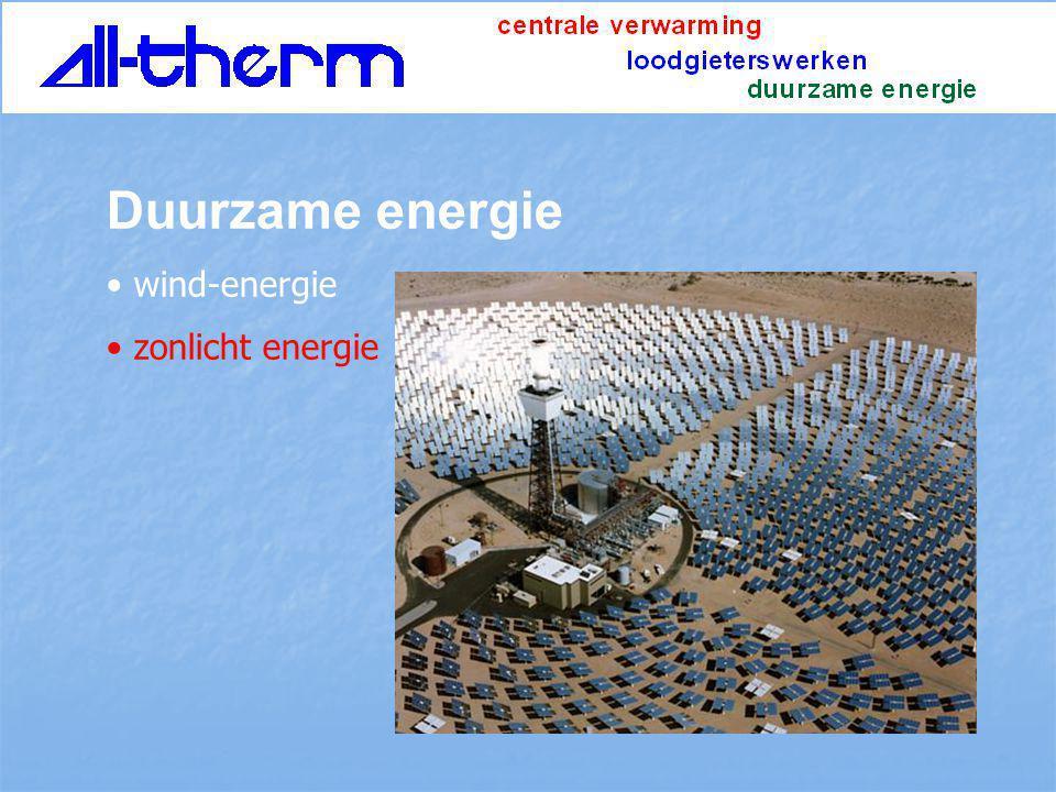 Duurzame energie wind-energie zonlicht energie