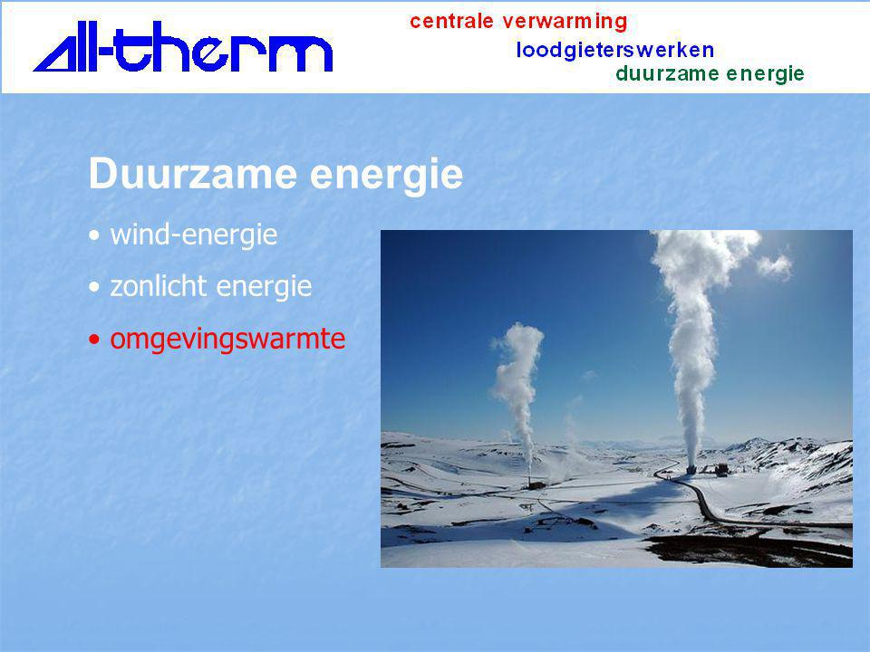 Duurzame energie wind-energie zonlicht energie omgevingswarmte