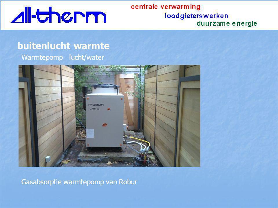 buitenlucht warmte Warmtepomp lucht/water