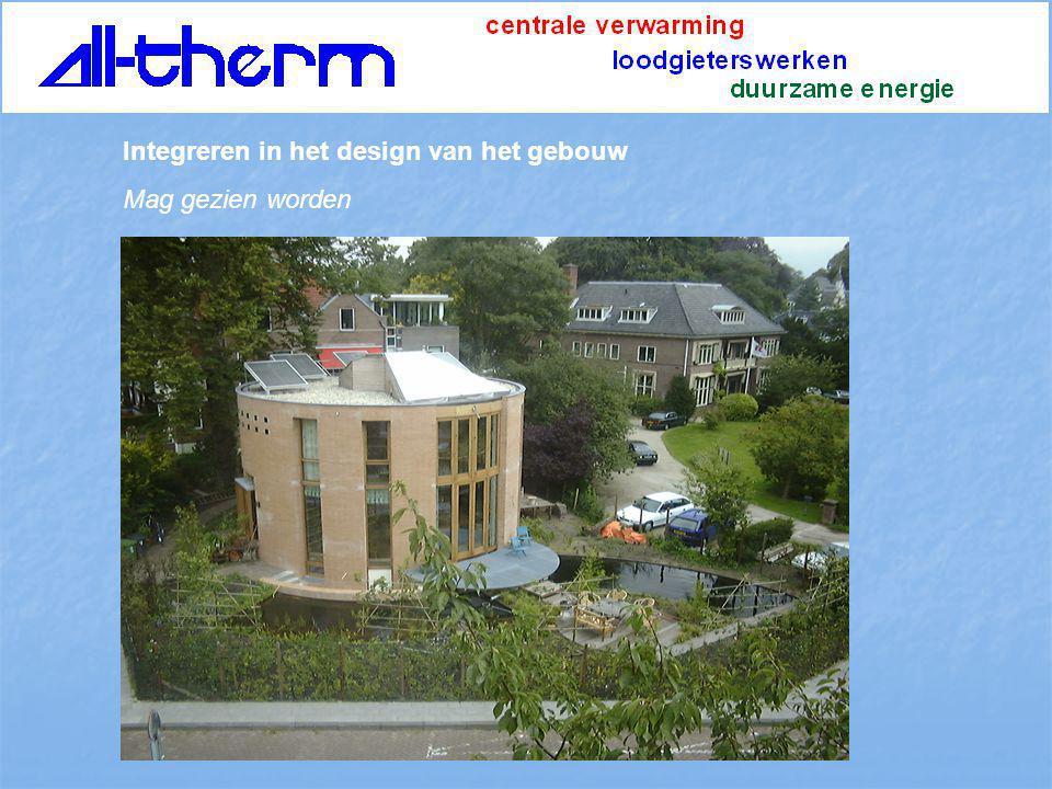 Integreren in het design van het gebouw