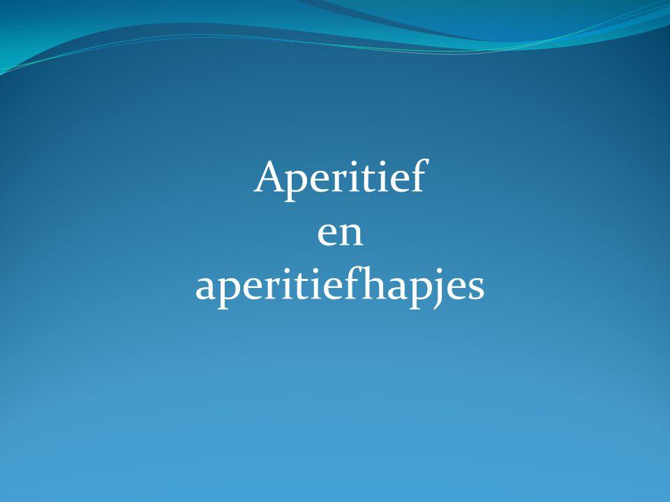 Aperitief en aperitiefhapjes