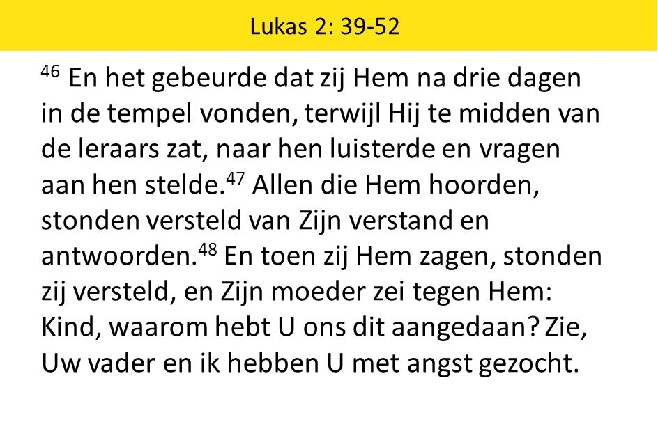 Lukas 2: 39-52