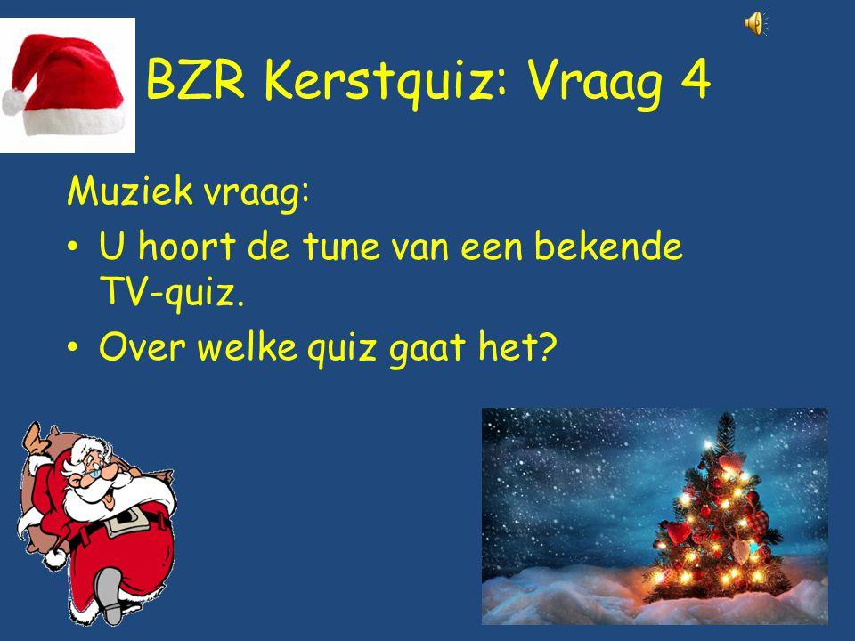 BZR Kerstquiz: Vraag 4 Muziek vraag: