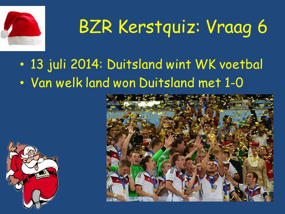 BZR Kerstquiz: Vraag 6 13 juli 2014: Duitsland wint WK voetbal