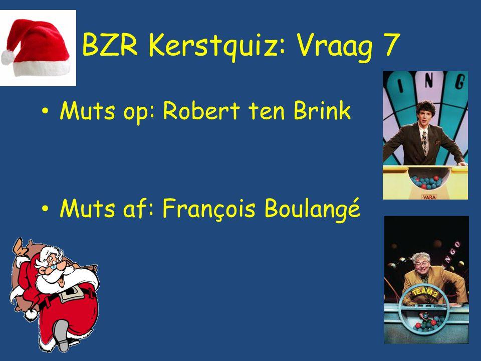 BZR Kerstquiz: Vraag 7 Muts op: Robert ten Brink