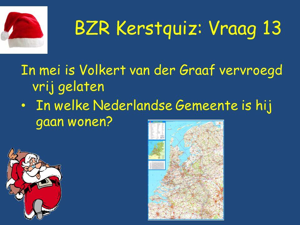 BZR Kerstquiz: Vraag 13 In mei is Volkert van der Graaf vervroegd vrij gelaten.