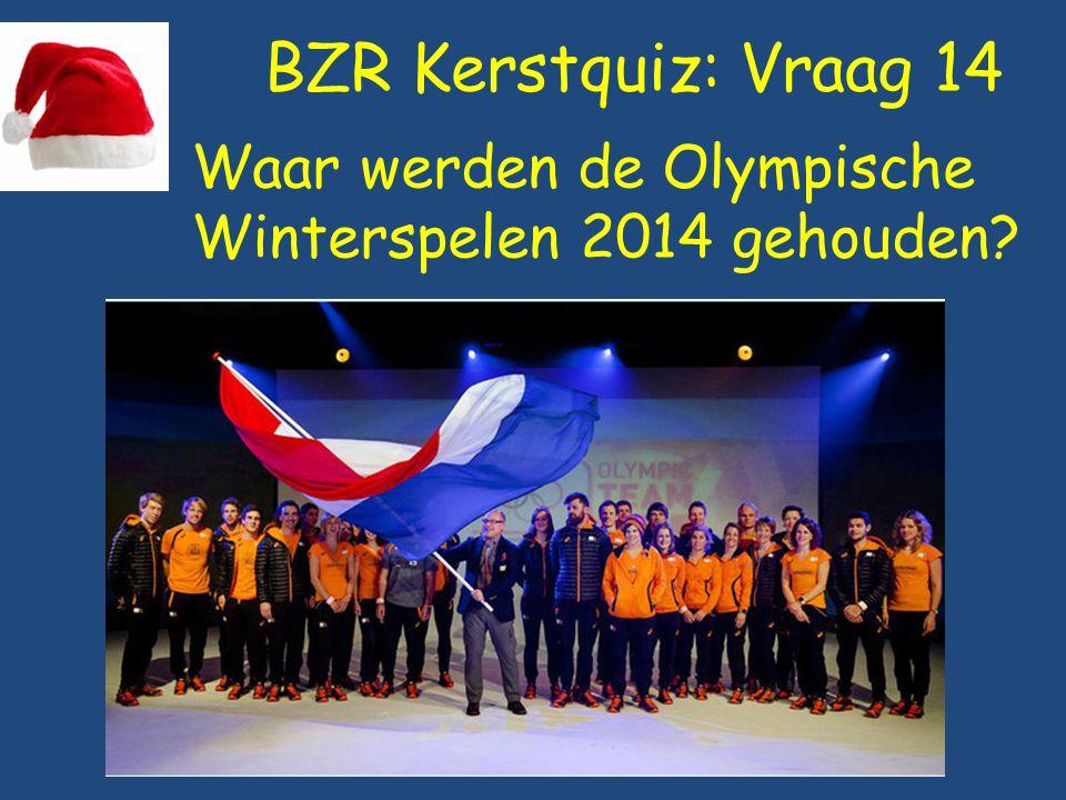 BZR Kerstquiz: Vraag 14 Waar werden de Olympische