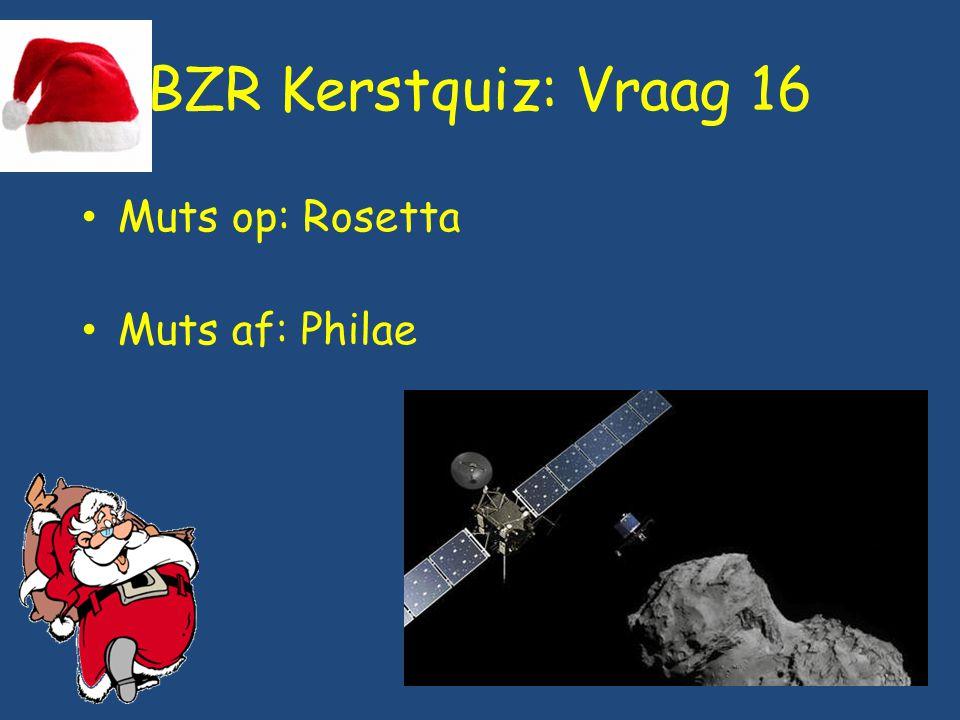 BZR Kerstquiz: Vraag 16 Muts op: Rosetta Muts af: Philae