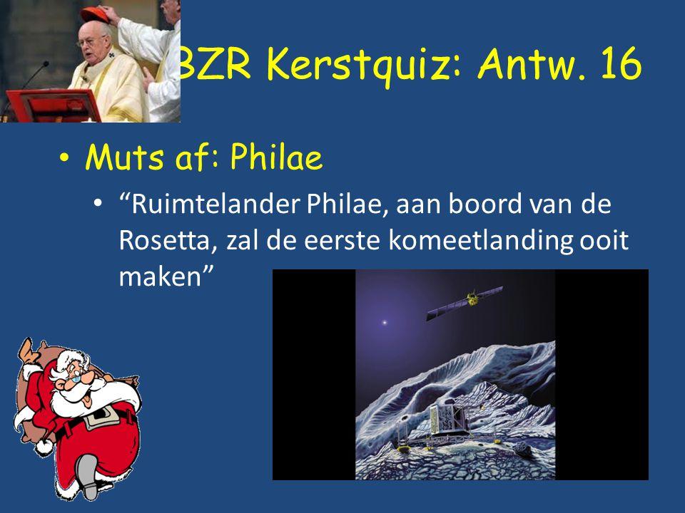 BZR Kerstquiz: Antw. 16 Muts af: Philae
