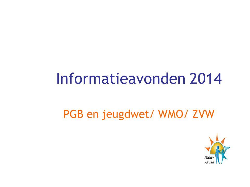 PGB en jeugdwet/ WMO/ ZVW