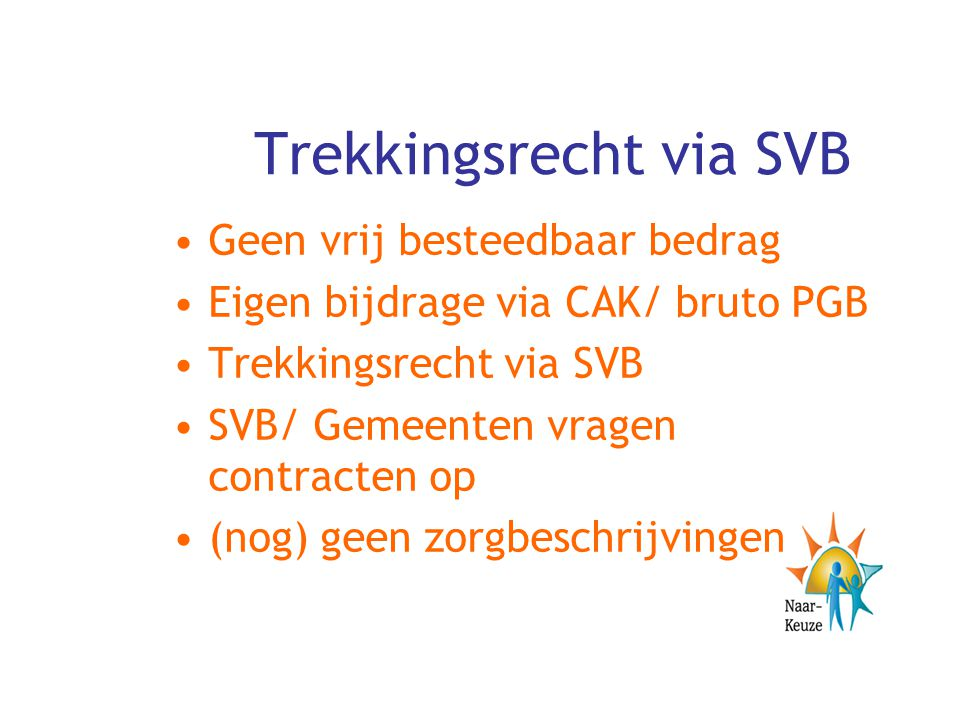 Trekkingsrecht via SVB