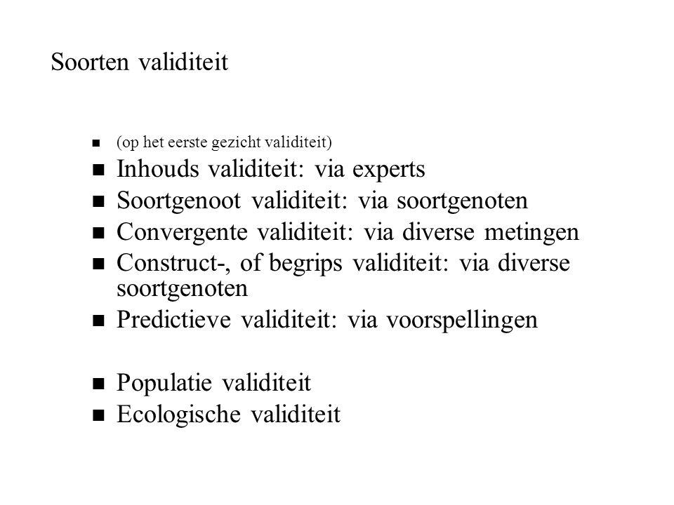Inhouds validiteit: via experts