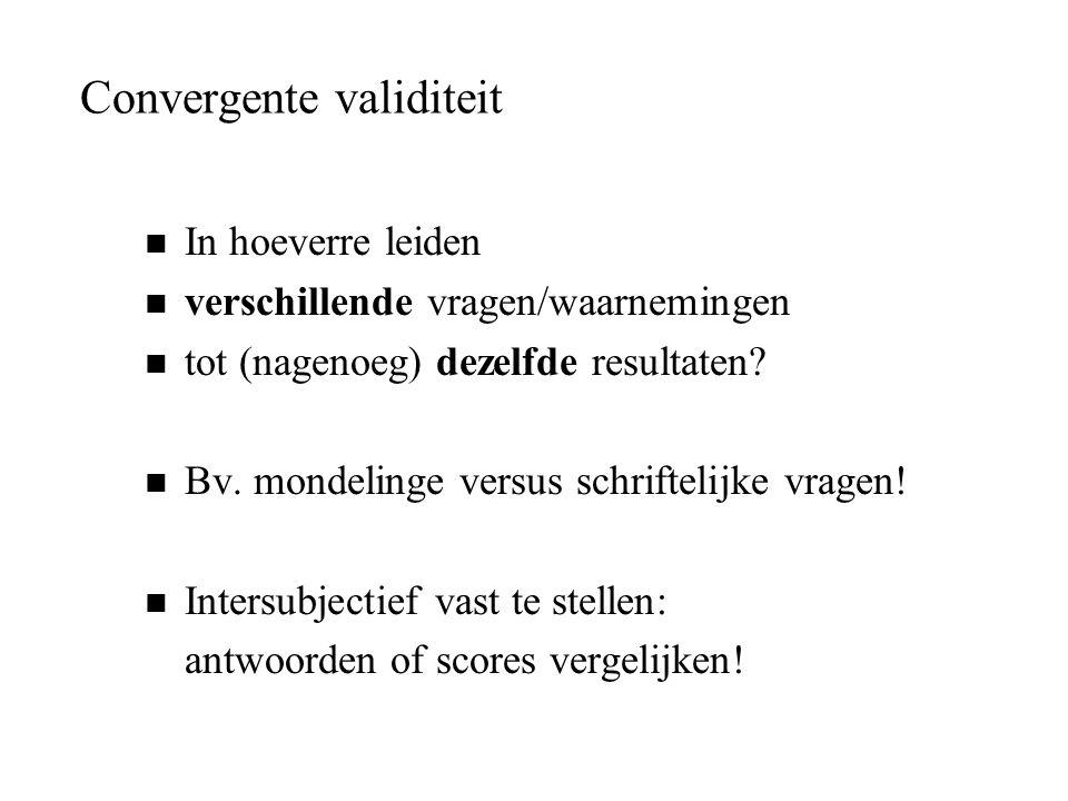 Convergente validiteit