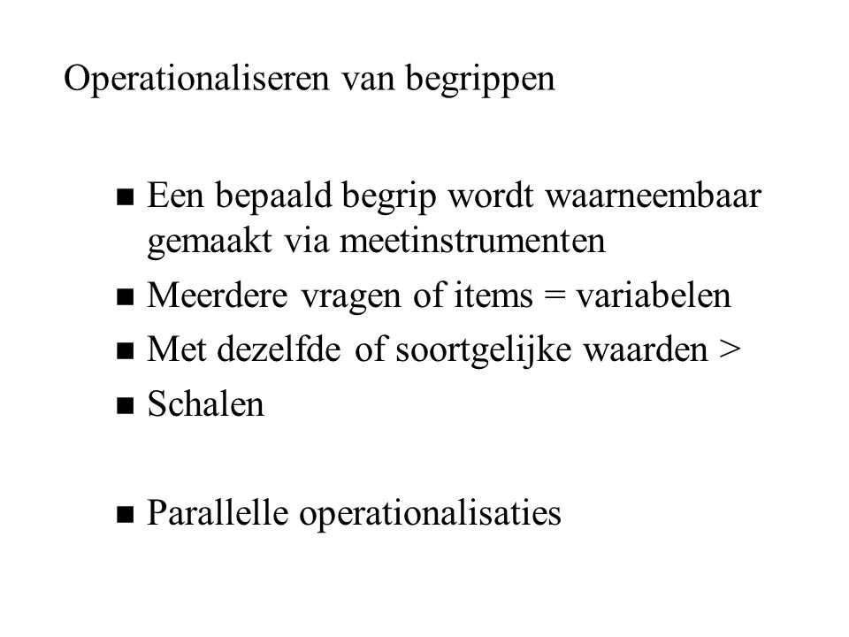Operationaliseren van begrippen
