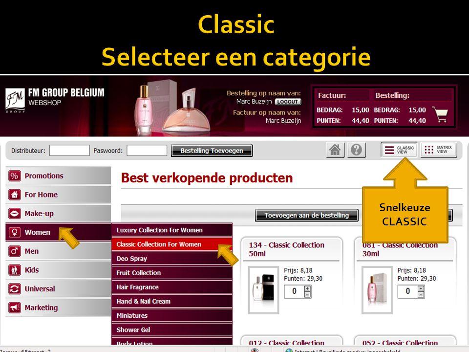 Classic Selecteer een categorie