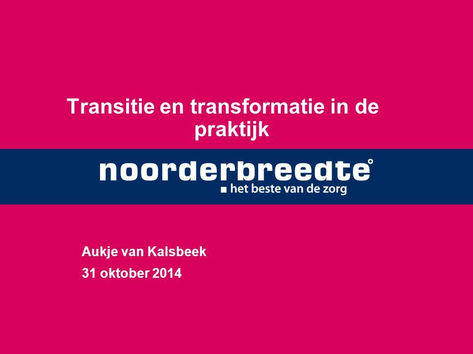 Transitie en transformatie in de praktijk