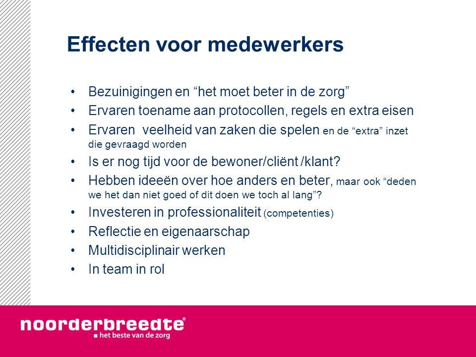 Effecten voor medewerkers