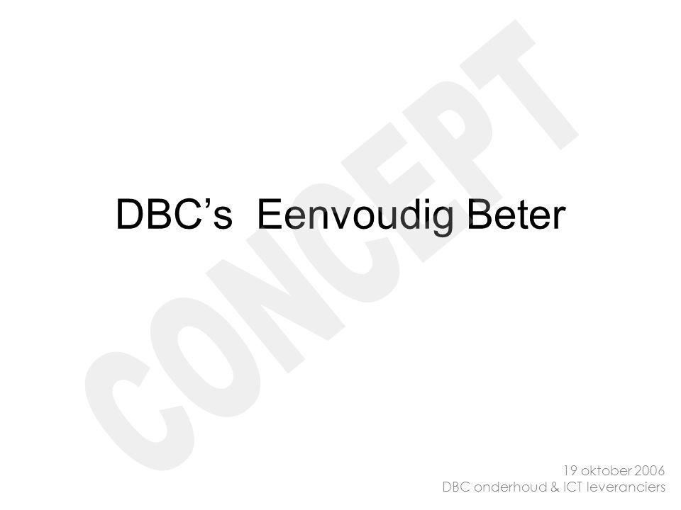 DBC's Eenvoudig Beter CONCEPT