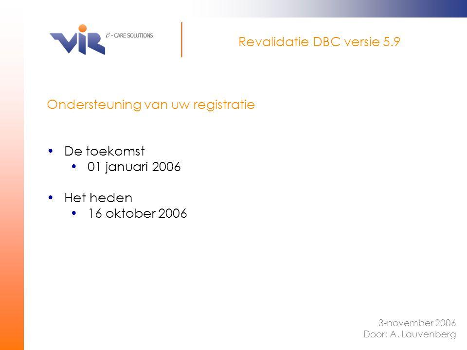 Revalidatie DBC versie 5.9