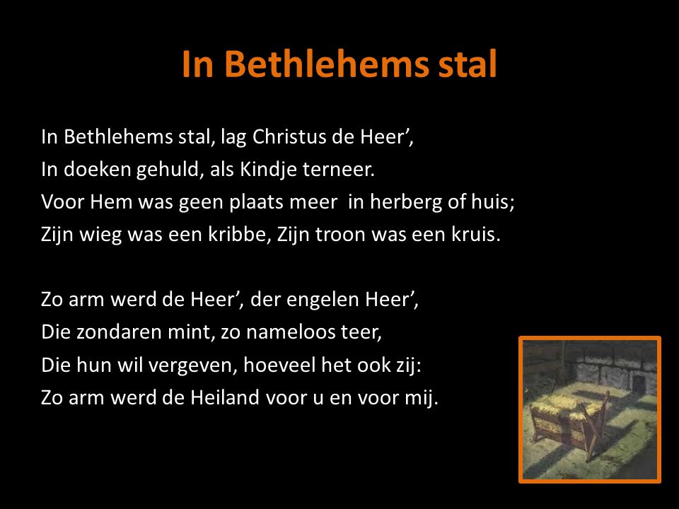 In Bethlehems stal