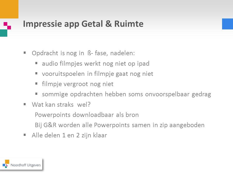 Impressie app Getal & Ruimte