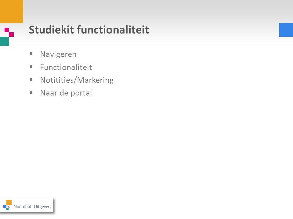 Studiekit functionaliteit