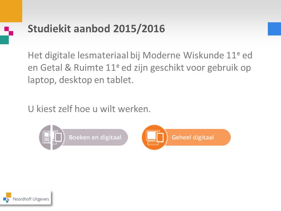 Studiekit aanbod 2015/2016