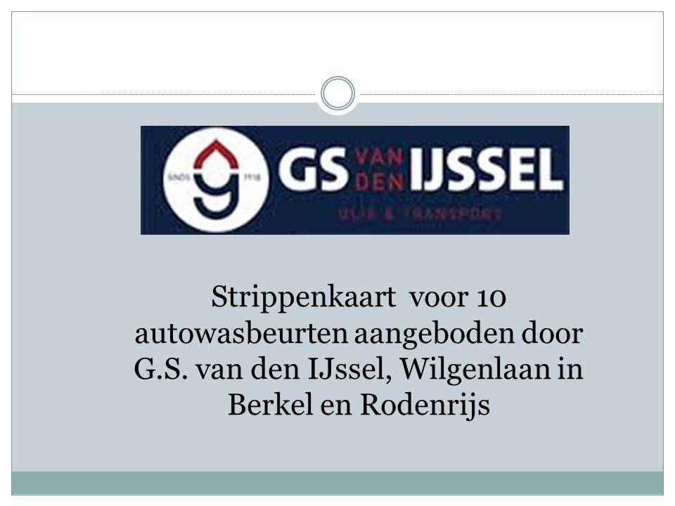 Strippenkaart voor 10 autowasbeurten aangeboden door G. S