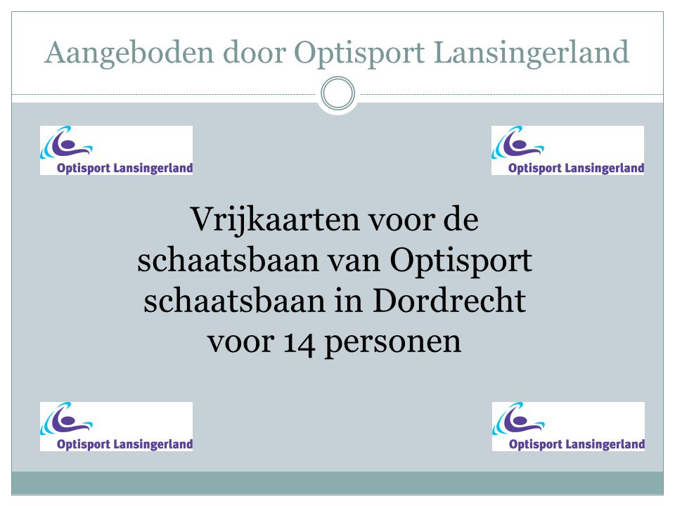 Aangeboden door Optisport Lansingerland