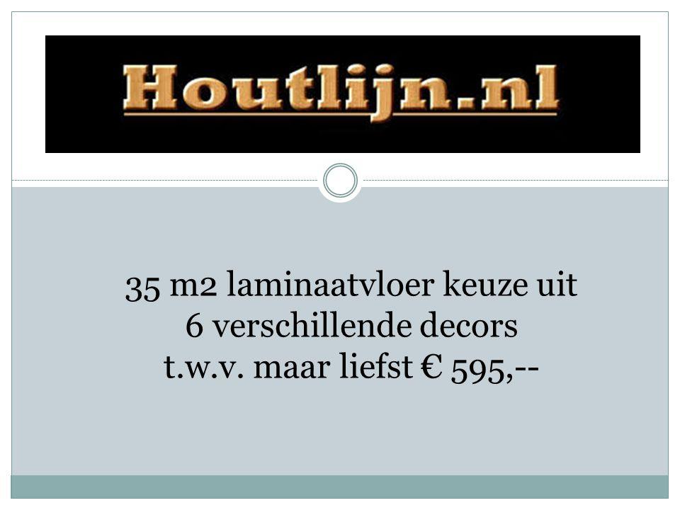 35 m2 laminaatvloer keuze uit 6 verschillende decors t. w. v