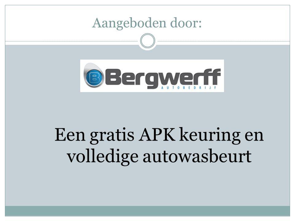 Een gratis APK keuring en volledige autowasbeurt