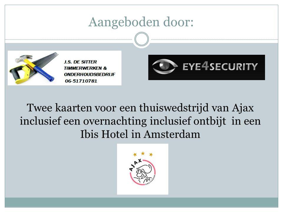Aangeboden door: Twee kaarten voor een thuiswedstrijd van Ajax inclusief een overnachting inclusief ontbijt in een Ibis Hotel in Amsterdam.
