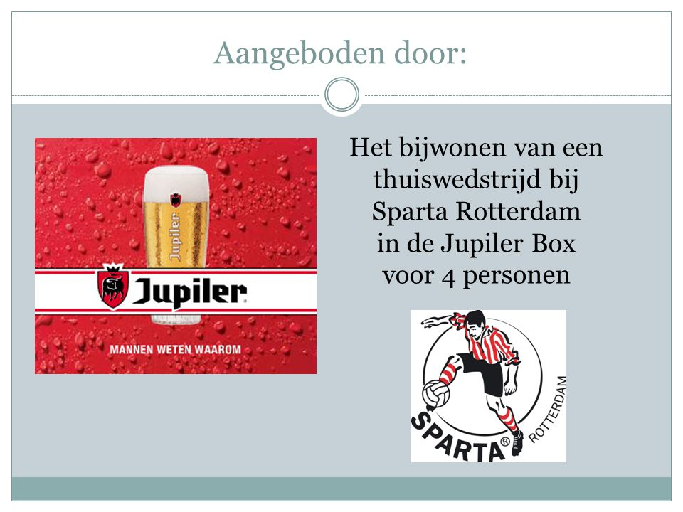Het bijwonen van een thuiswedstrijd bij Sparta Rotterdam