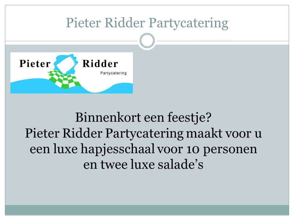 Pieter Ridder Partycatering