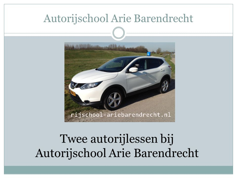 Autorijschool Arie Barendrecht