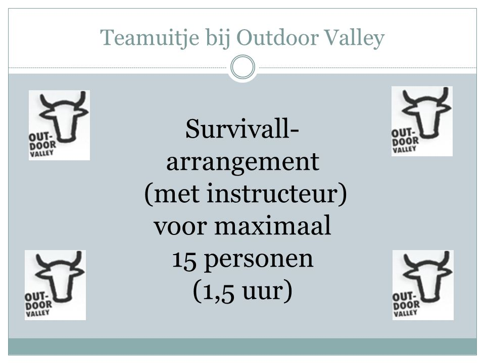 Teamuitje bij Outdoor Valley