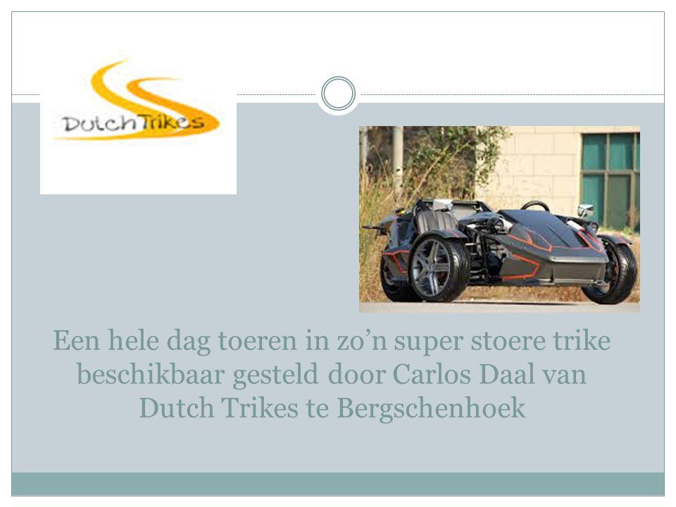 Een hele dag toeren in zo'n super stoere trike beschikbaar gesteld door Carlos Daal van Dutch Trikes te Bergschenhoek