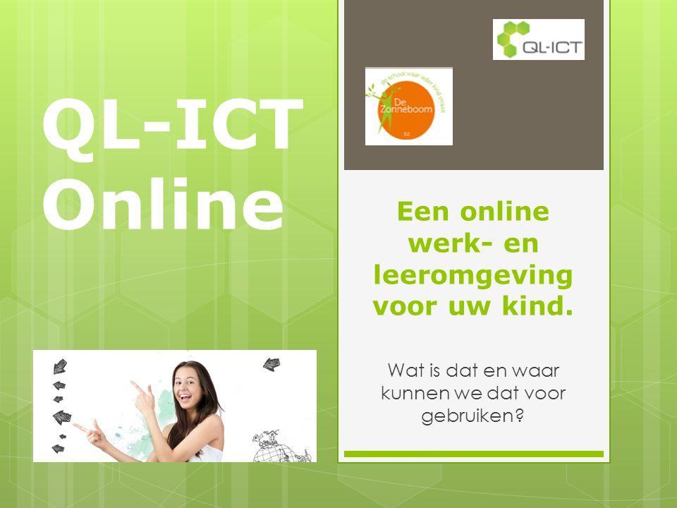 Een online werk- en leeromgeving voor uw kind.