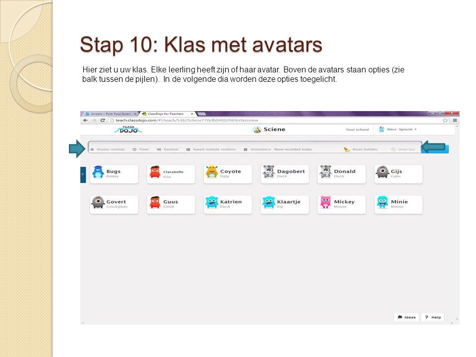Stap 10: Klas met avatars