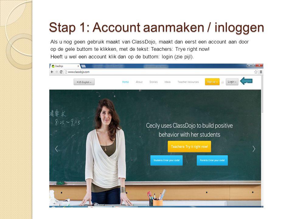 Stap 1: Account aanmaken / inloggen