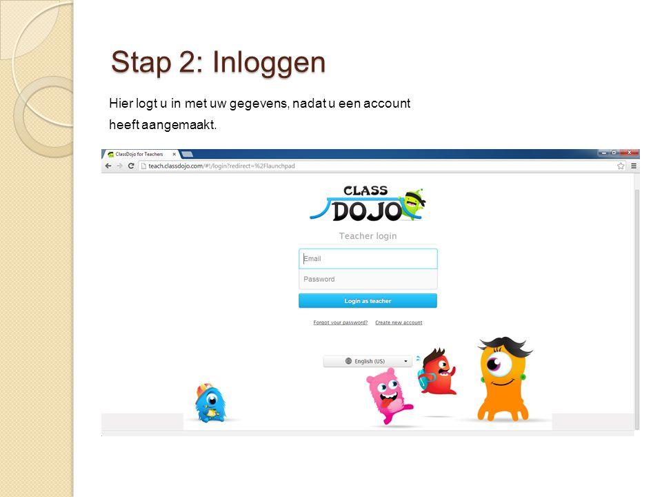 Stap 2: Inloggen Hier logt u in met uw gegevens, nadat u een account heeft aangemaakt.