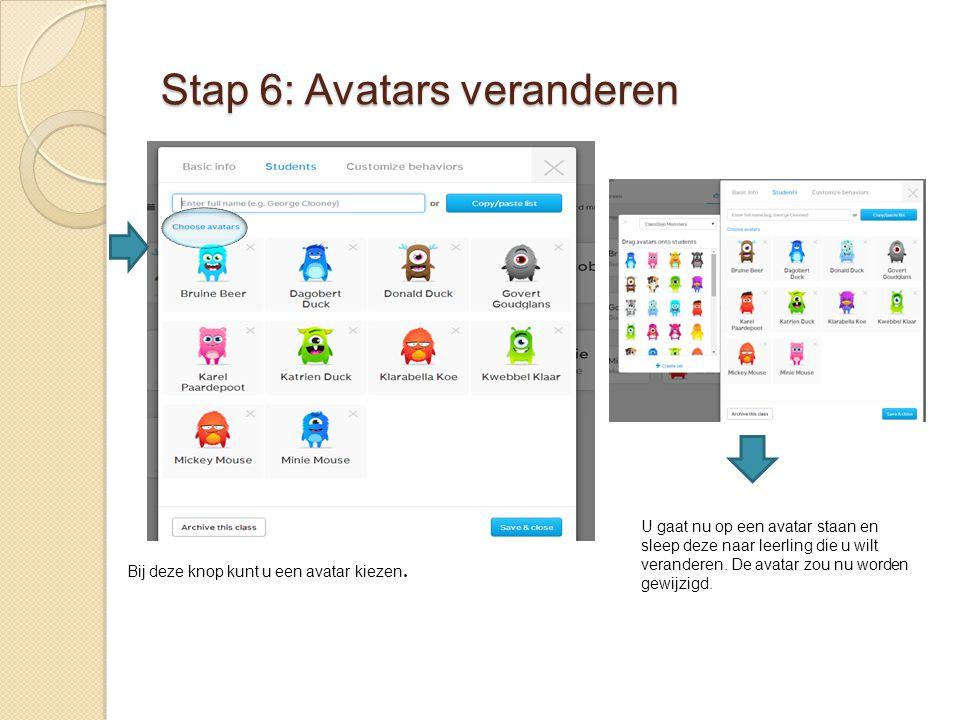 Stap 6: Avatars veranderen