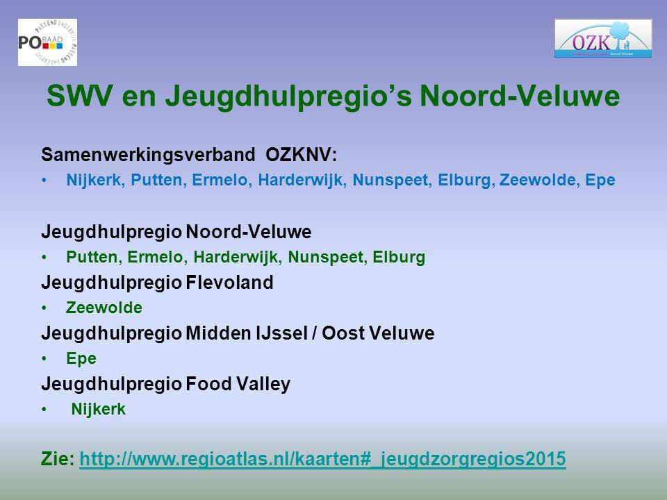 SWV en Jeugdhulpregio's Noord-Veluwe