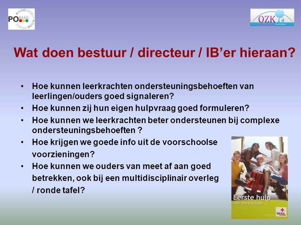 Wat doen bestuur / directeur / IB'er hieraan