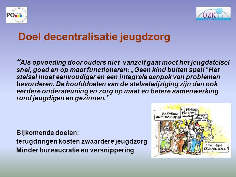 Doel decentralisatie jeugdzorg